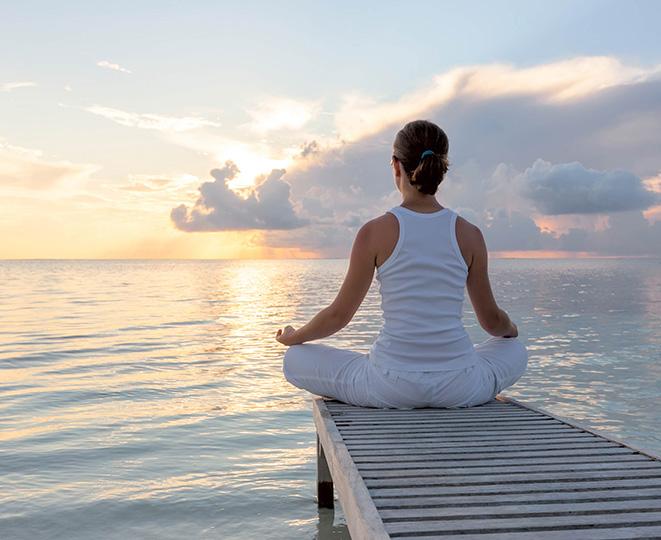 zena meditacia voda pokoj rovnovaha gemerka